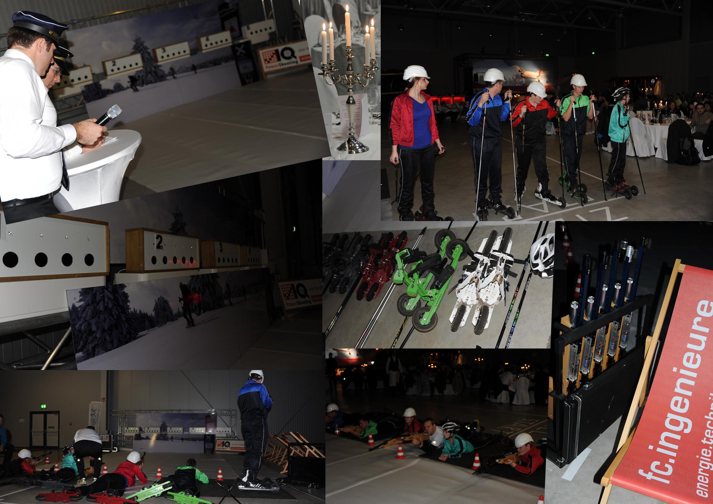 Skating‐Biathlon auf der Jahrestagung der fc.ingenieure, Januar 2015