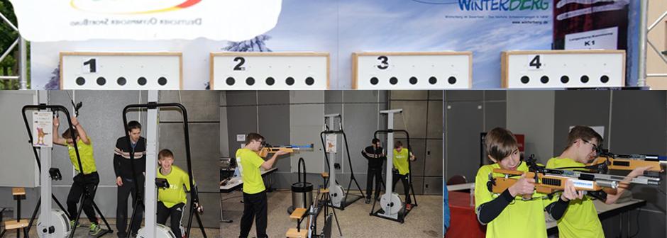 Cardio‐Biathlon beim Ecco Indoor Trail in der Dortmunder Westfalenhalle