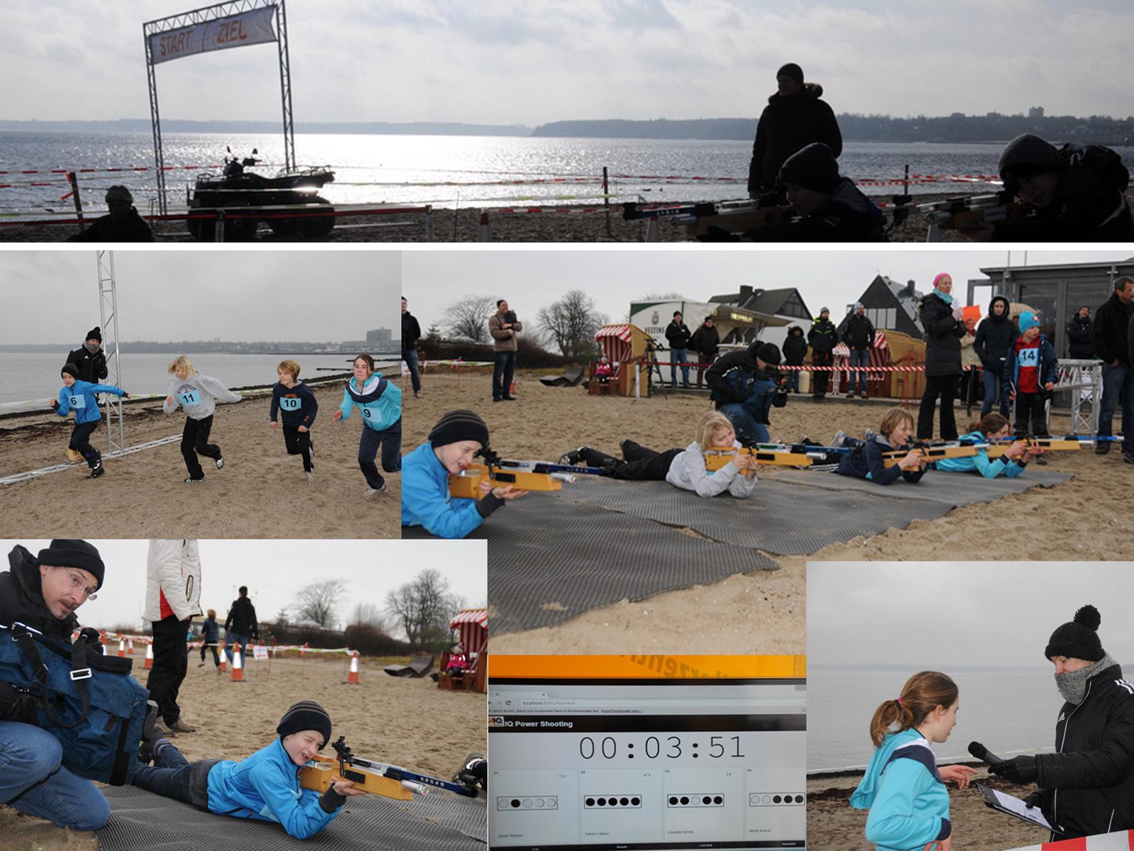 2. Strand‐Biathlon in Strande / Ostsee, Februar 2015