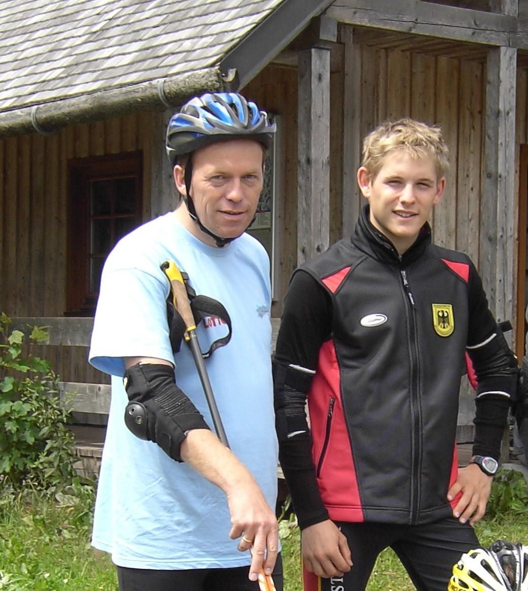 Stefan Puderbach mit seinem Sohn