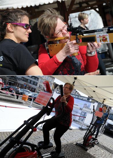 Die Biathlon-Challenge kennt keine Altersbegrenzung