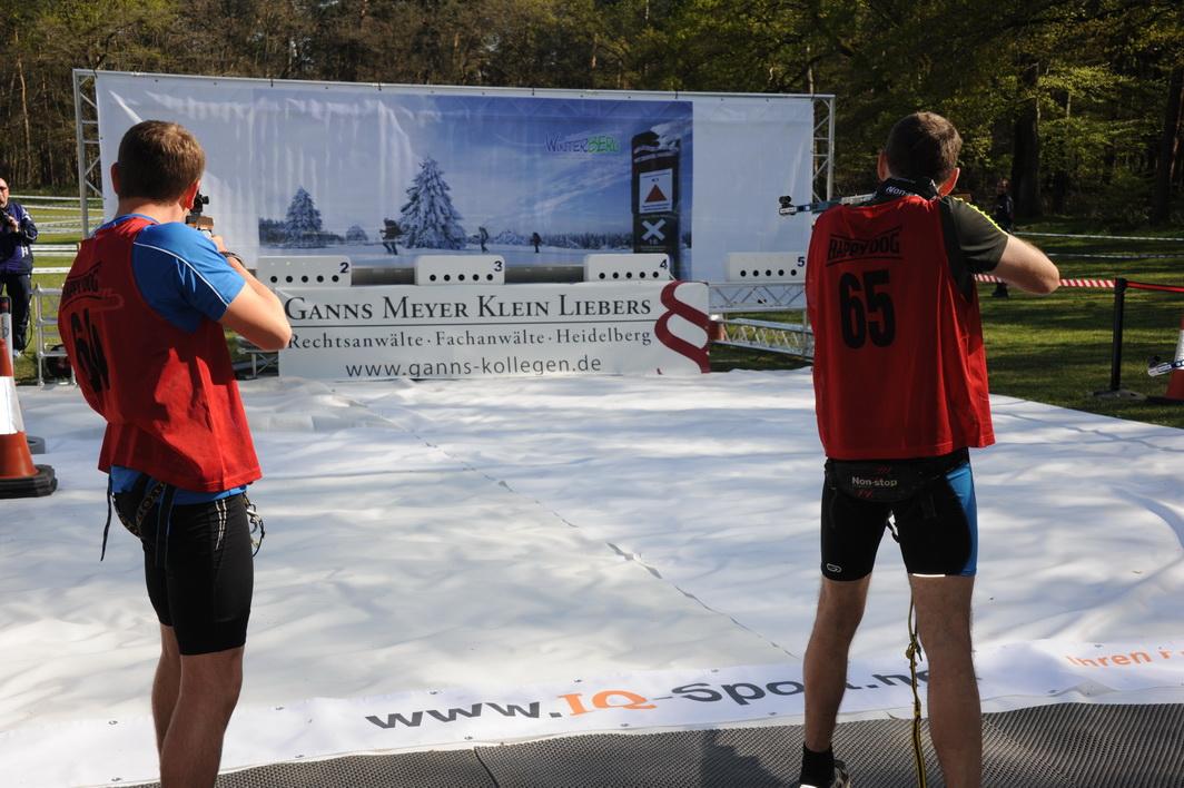Stehendschießen in der IQ-Biathlonarena
