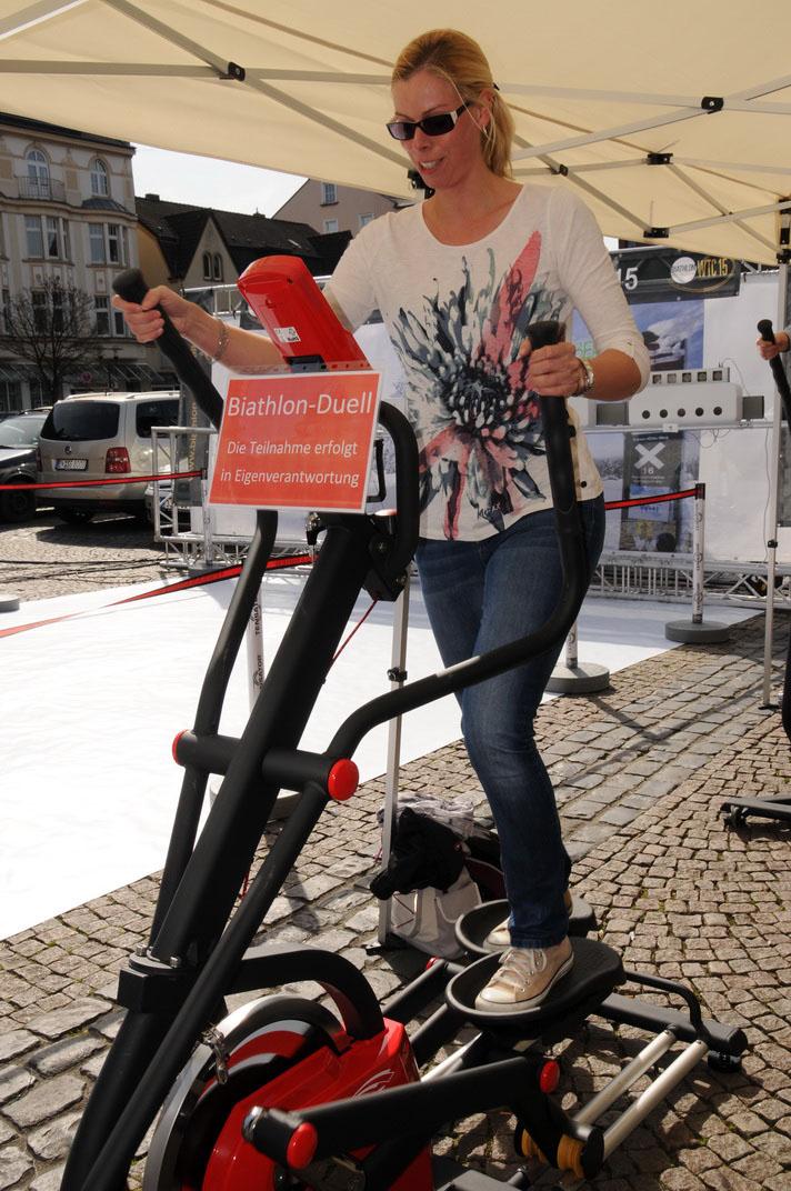 Die beste Frau in der Etappenwertung: Tina Sellenscheidt