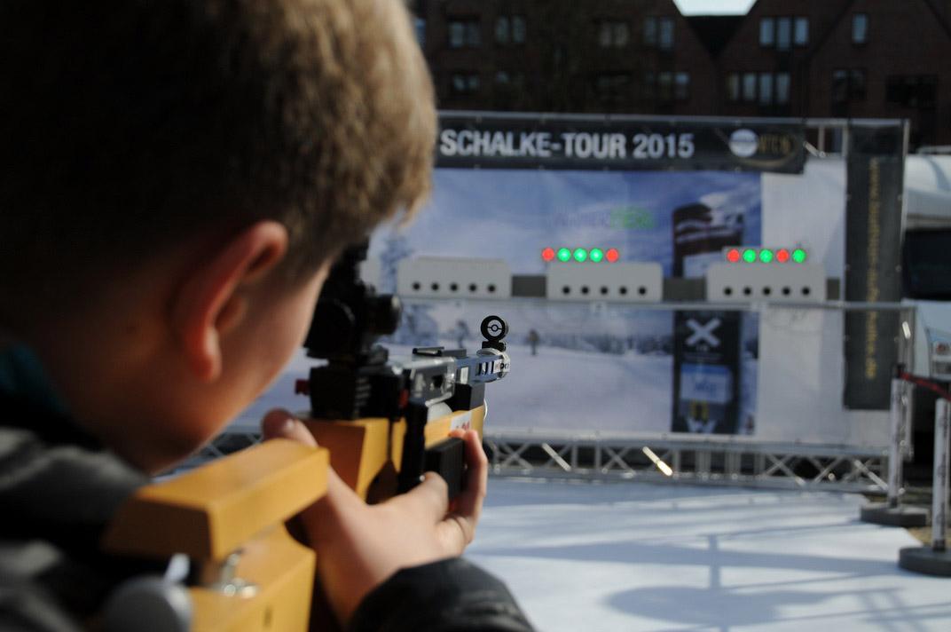 Startschuss zur Biathlon auf Schalke-Tour 2015