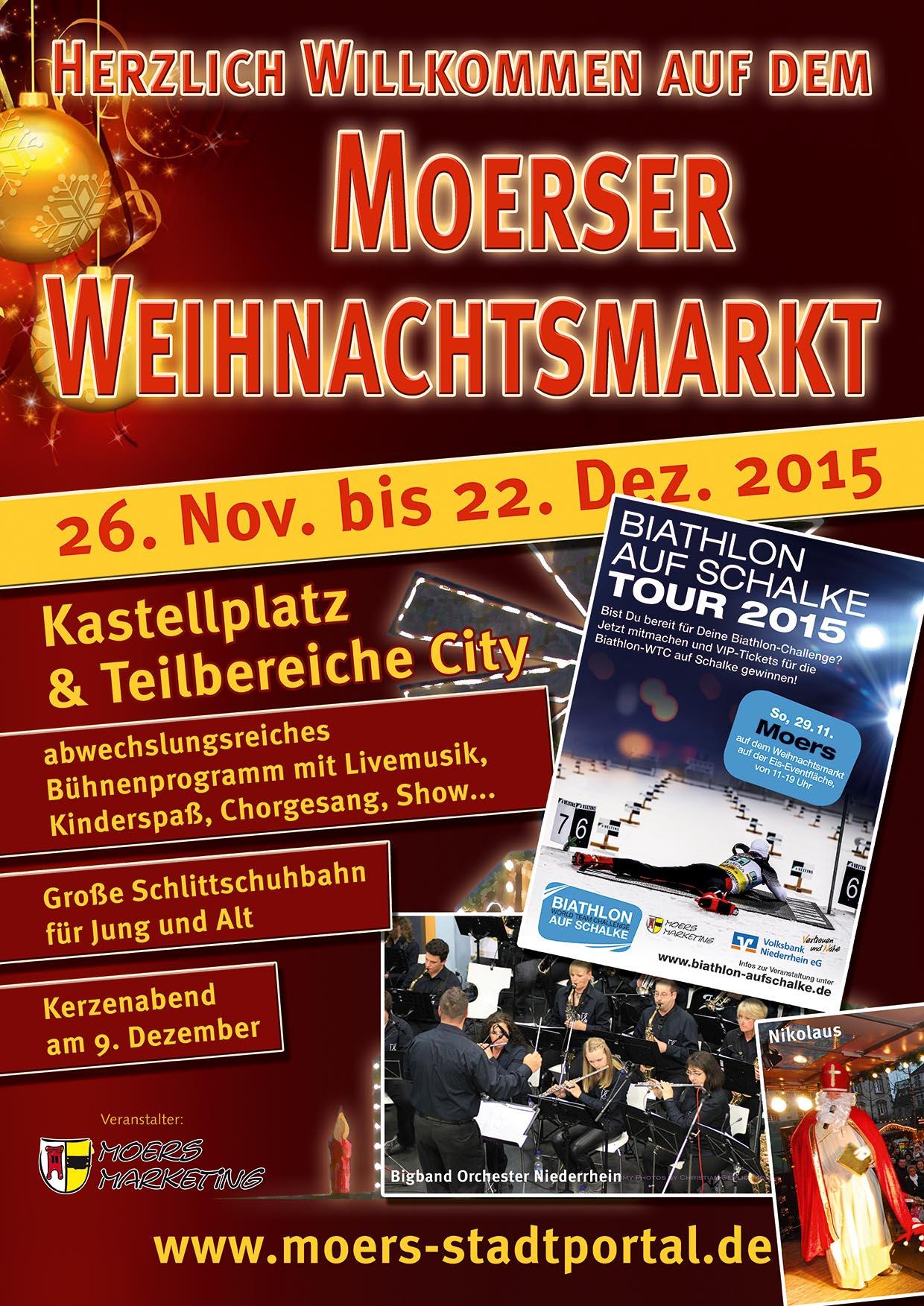 Plakat zum Weihnachtsmarkt 2015
