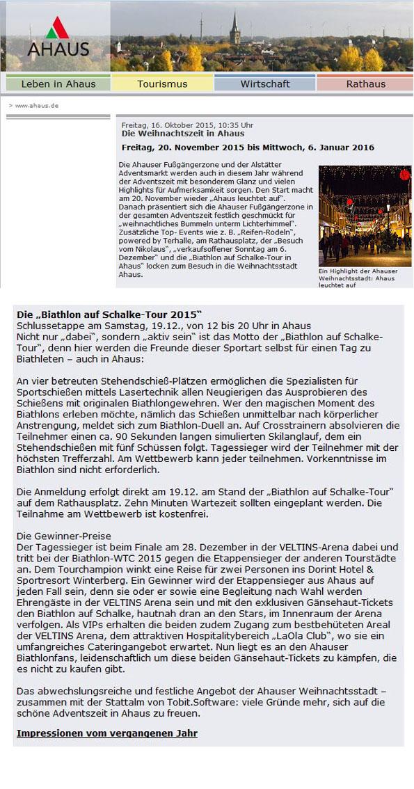 Vorbericht bei ahaus.de