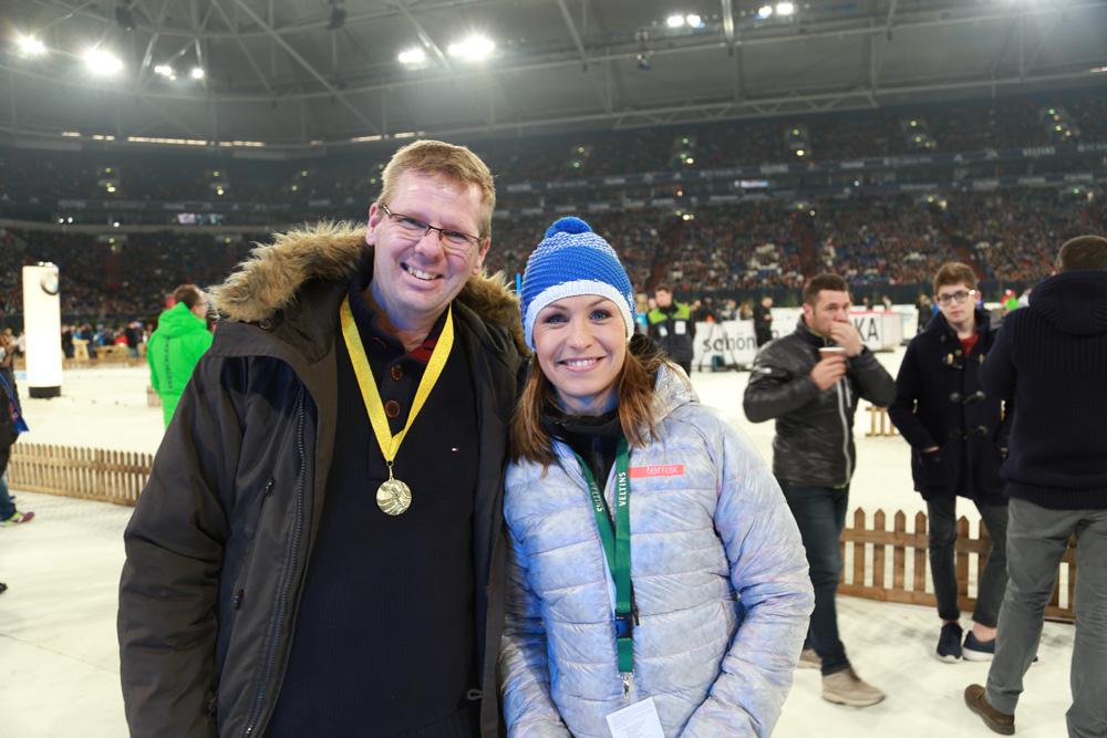 Ulf Quooß neben Magdalena Neuner