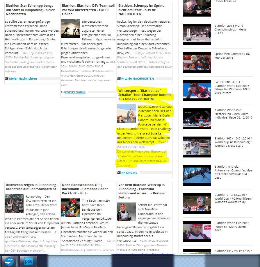 Cool: Tourbericht inmitten von Biathlon-Weltcup-News