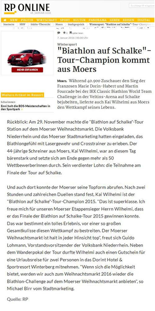 Rheinische Post über den Tour-Champion