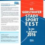 Flyer zum Stadtsportfest