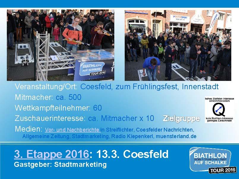 Biathlonetappe Coesfeld