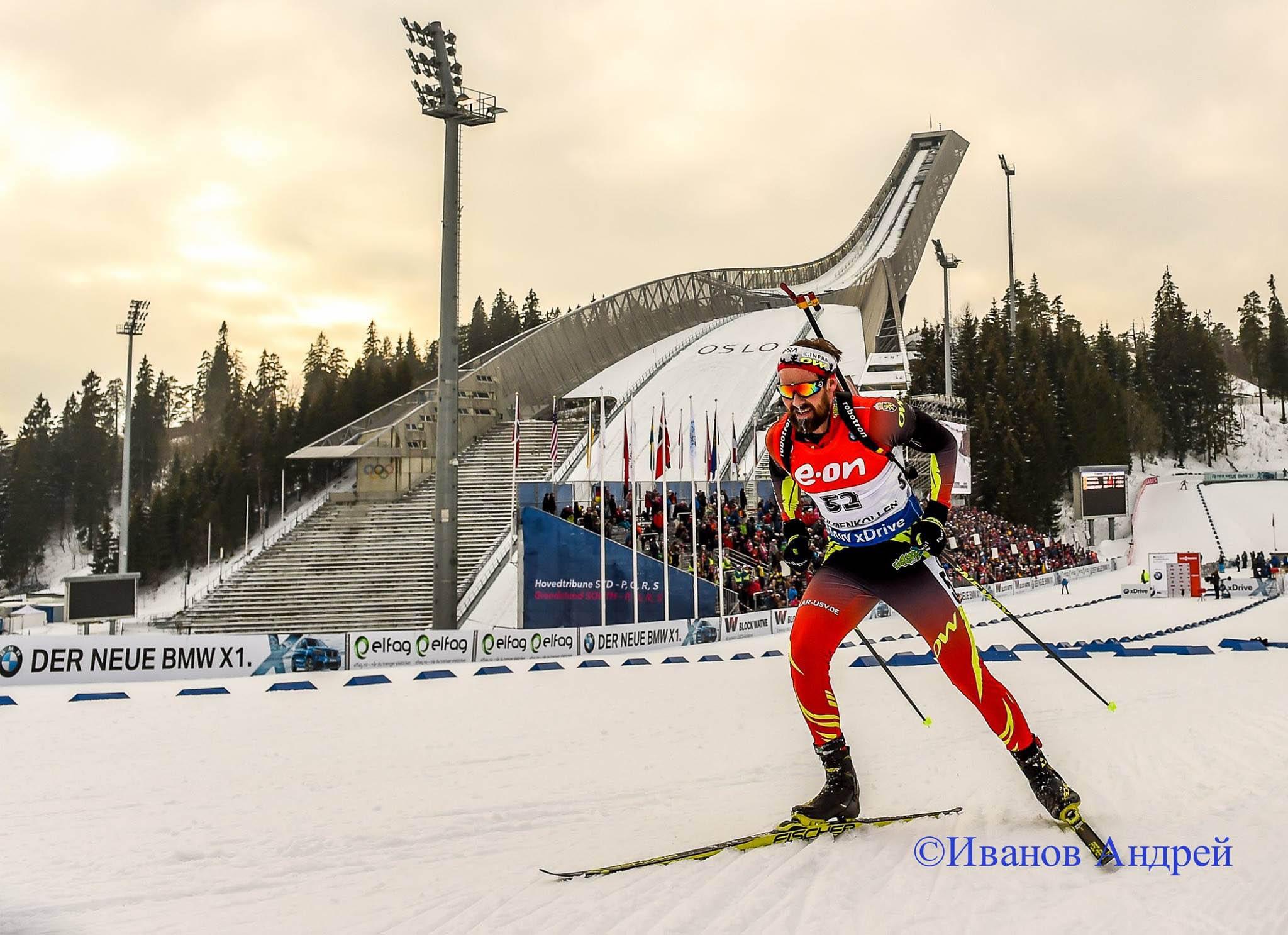 Michael Rösch bei der Biathlon WM 2016.