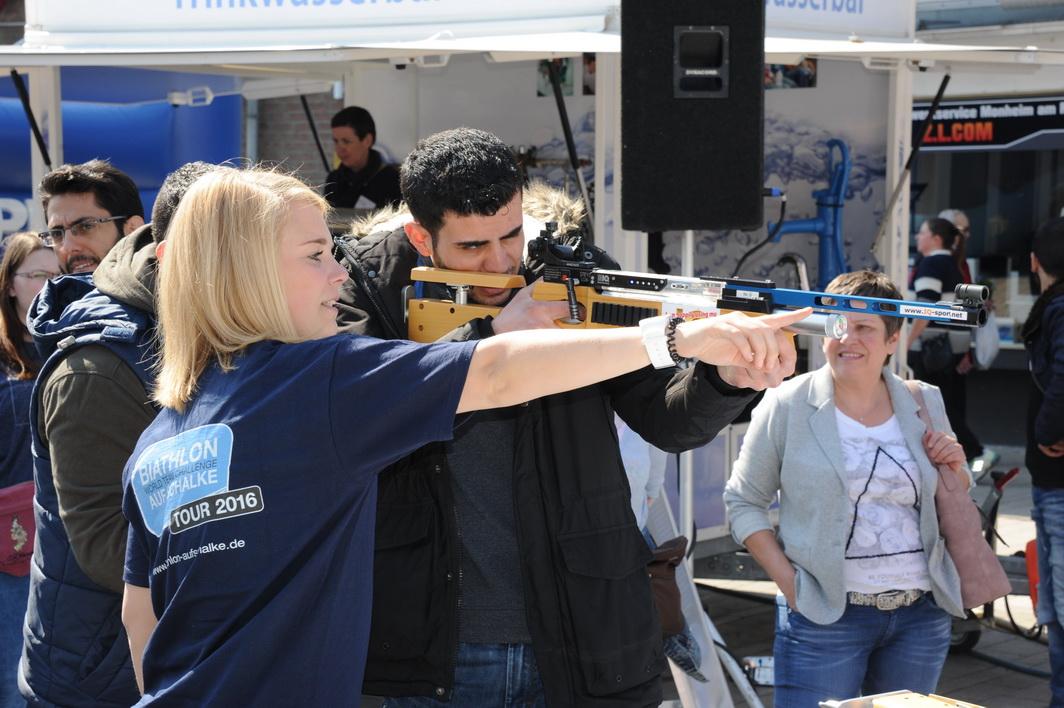 Marina Pick betreut die Biathlonfans