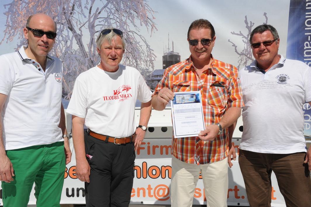Das Team Remagen von links nach rechts: Guido Mombauer, Volker Thehos, Walter Köbbing und Heini Scheil