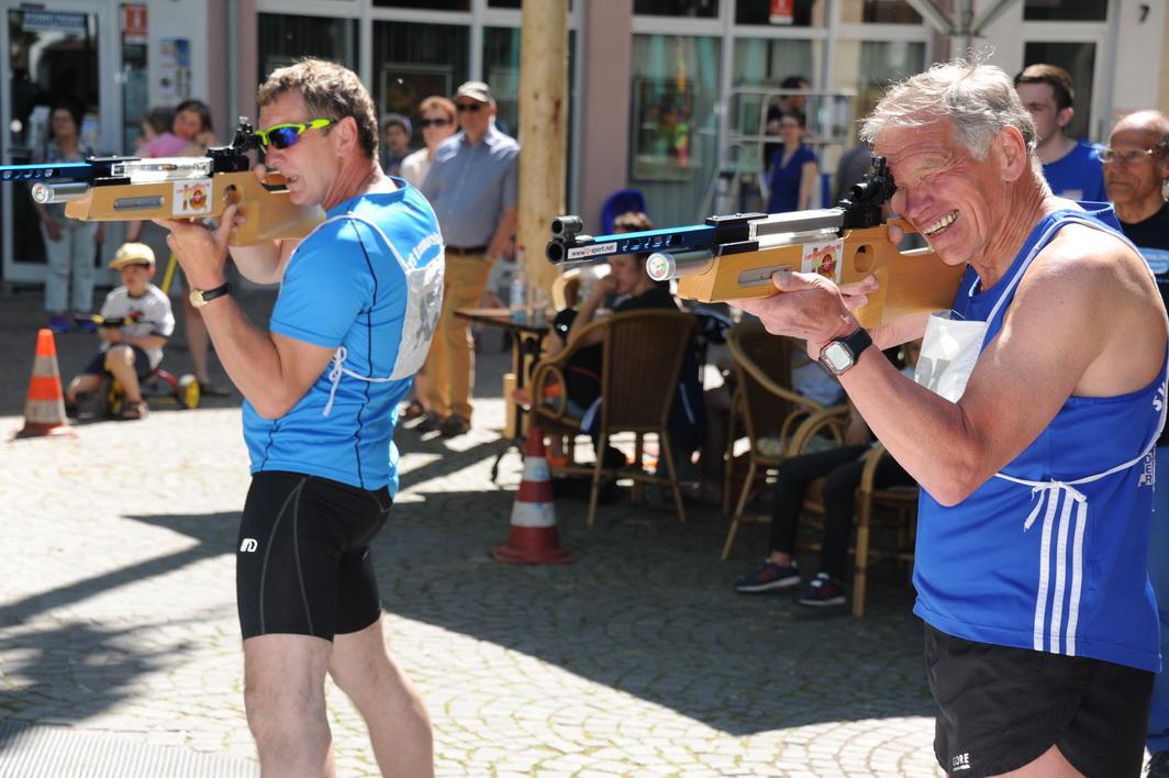 Hans Joachim Fries (rechts) und Werner Böcking kommen aus dem Westerwald (SVS Emmerzhausen) nach Remagen