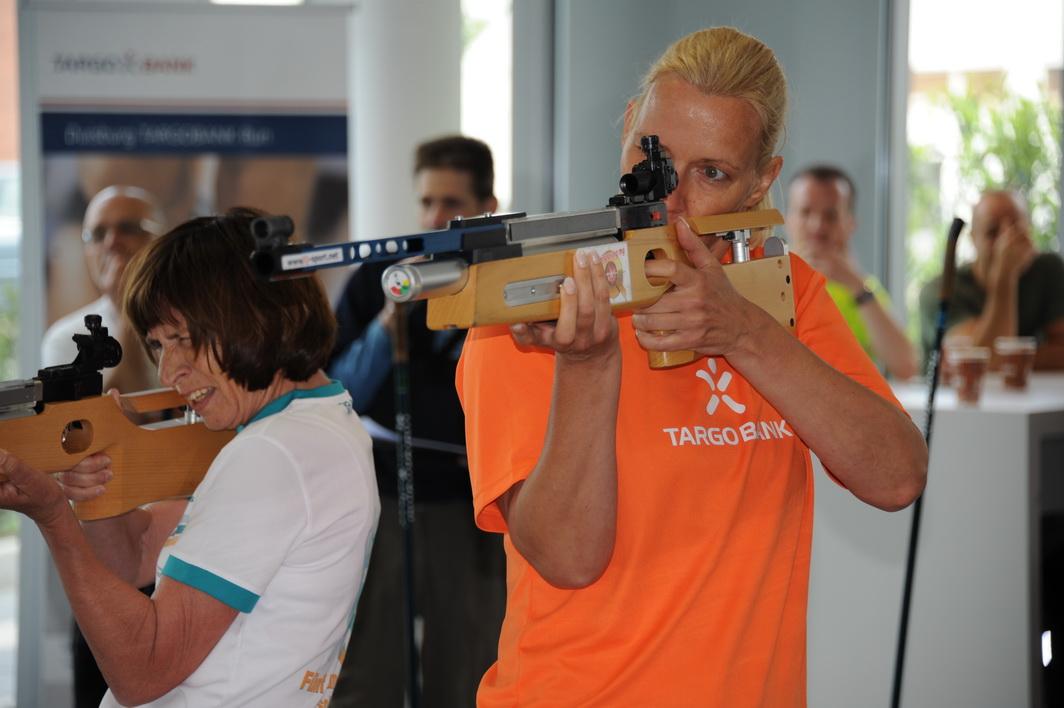Start zur Vorrunde: Maria Dengel (links) und Marion Gratenberg