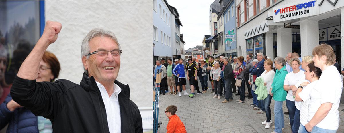 Applaus für Bürgermeister Friedhelm Bongartz