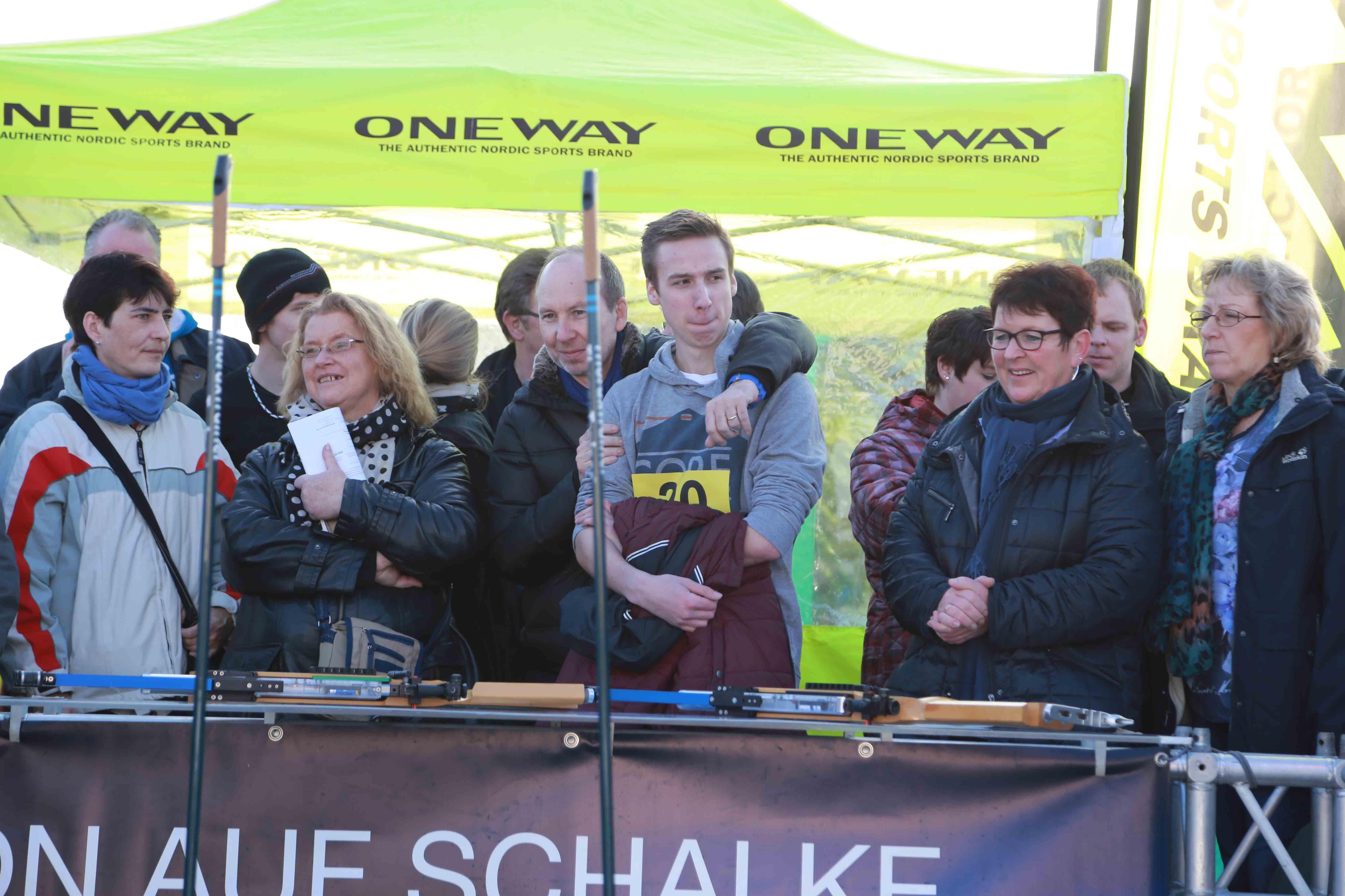Leon und Frank Doerenkamp beim Tourfinale 2015 auf Schalke