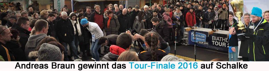 Andreas Braun gewinnt das Finale der Biathlon auf Schalke-Tour 2016