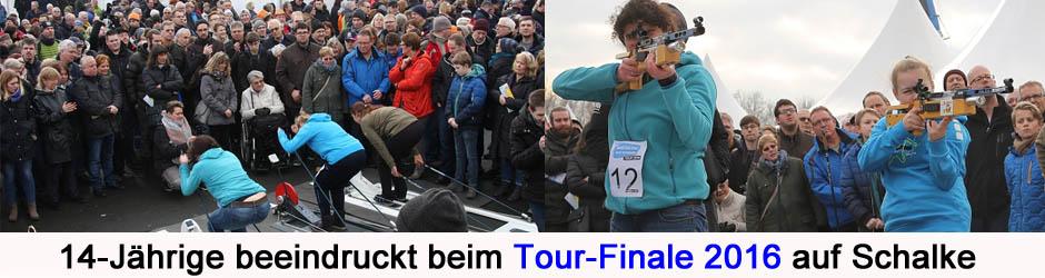Jana Harmeling wird Vizemeisterin der Biathlon auf Schalke-Tour 2016